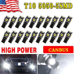 20x Pure White Canbus Error Free T10 SMD LED Interior License Light Bulb W5W 194 9312716935240