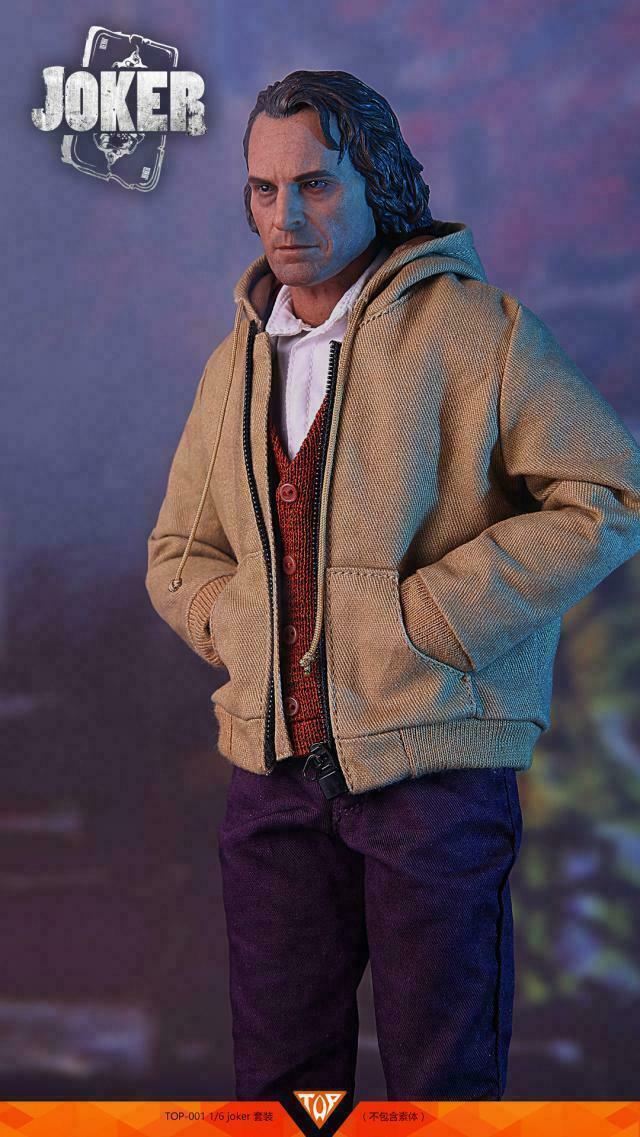 El Guasón Joaquin Phoenix 1 6 ropa con cabeza esculpida por 12  Figura Modelo Juguetes