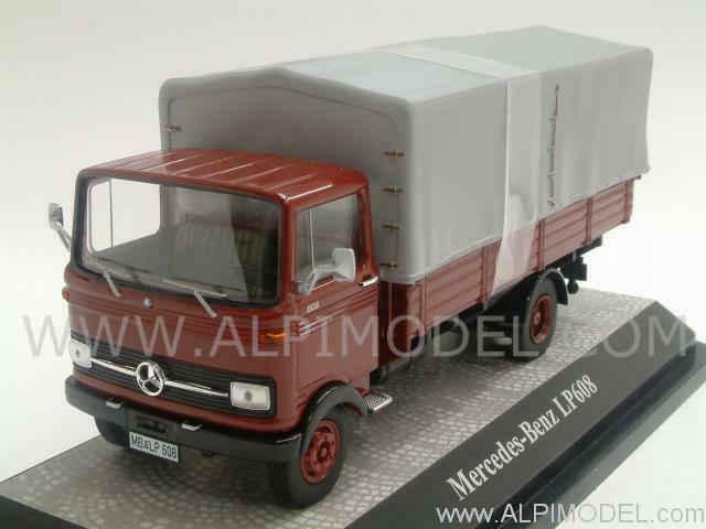 Mercedes LP608 Canvas Dark rosso 1 43 PREMIUM CLASSIXXS 12551