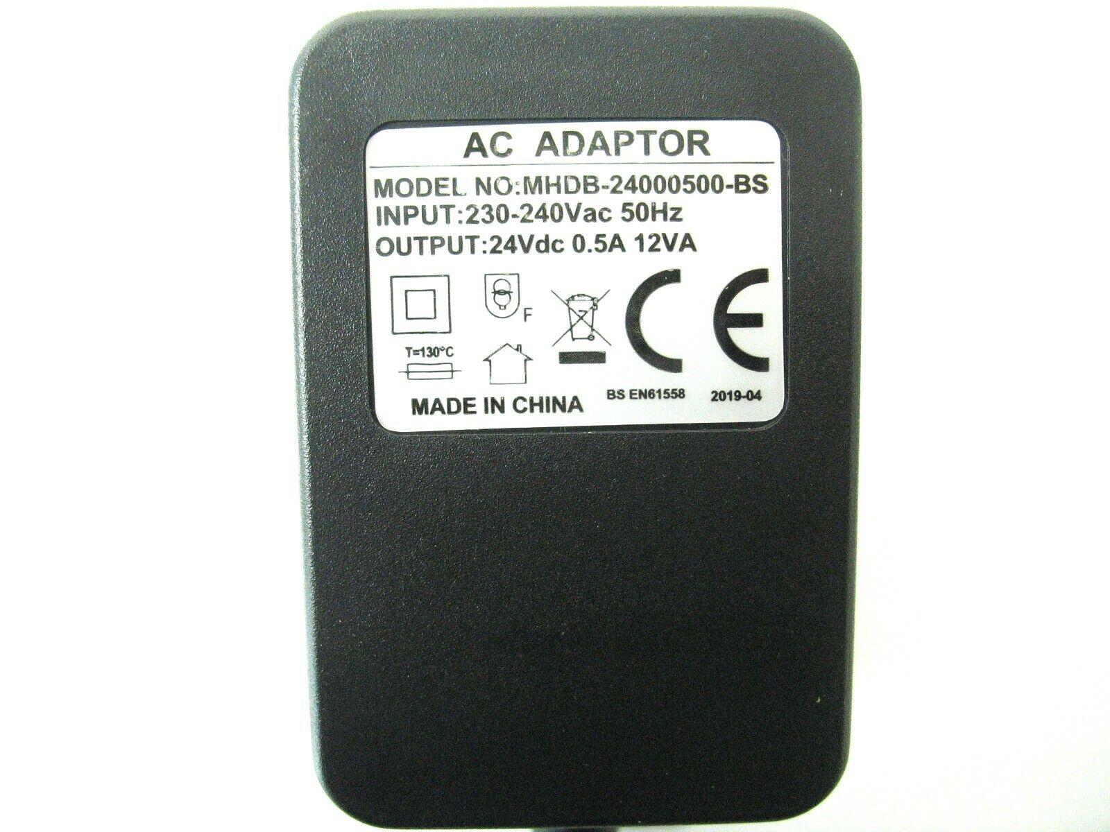 500ma 24v Socket AC-DC (DC Output) Power Adaptor/Supply/Charger 0.5a 12w 12va