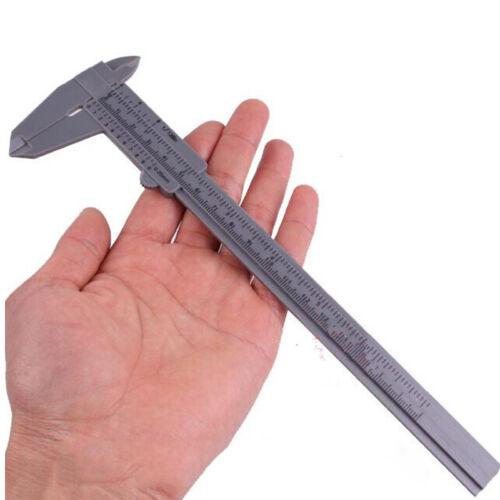 Gray 150mm Mini Plastic Sliding Vernier Caliper Gauge Measure Tool Ruler S/&K