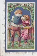 9468 H. O. Wilbur Chocolate Cocoa metamorphic turn-card Philadelphia PA children