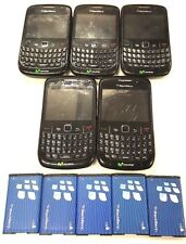 5 Lot Blackberry 8520 Querty UnLocked Phone Used GSM Chip Complete Working
