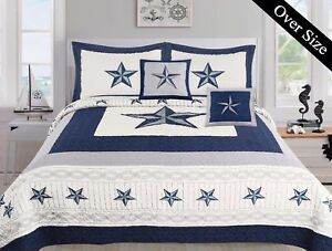 Image Is Loading 5 Piece Dallas Cowboys Western Star Design Quilt