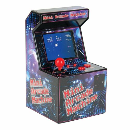 Retro Style Mini Arcade Machine Classic Old Computer 16 bit Games Toy Miniature
