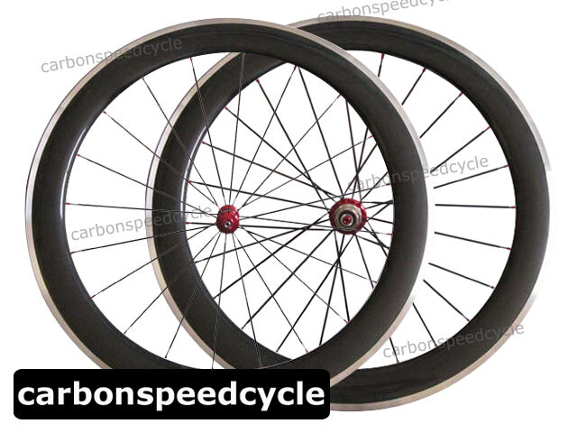 23mm Wide Carbon Road Bike Wheel 60mm Clincher Alloy Brake Straight Pull Ceramic