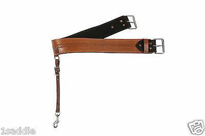 TOOLED LEATHER FLANK CINCH BACK CINCH WESTERN CINCHES SADDLE HORSE TRAIL TACK