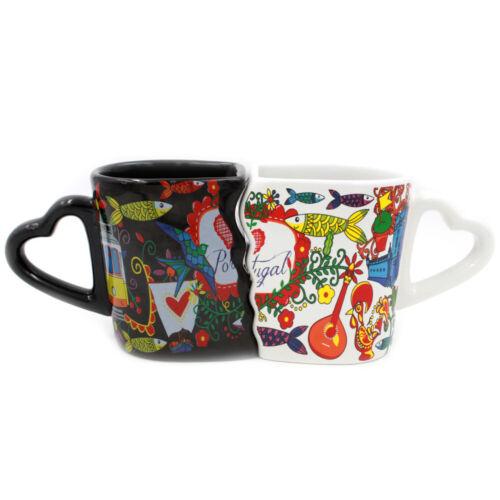Portuguese Ceramic Twin Coffee Mug Souvenir From Portugal