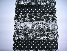 "32 x 5"" Charm Pack Black & White 100% Cotone Patchwork/Artigianato/Quilting wk5"