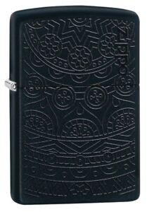 Zippo-Tone-on-Tone-Design-Black-Matte-Windproof-Pocket-Lighter-29989