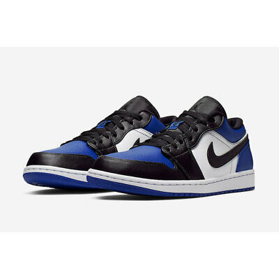 Nike Men's Air Jordan Retro I 1 Low Royal Sport White Black CQ9446-400