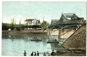 CPA 69 Rhône Villefranche-sur-Saône le Pont de Frans animé
