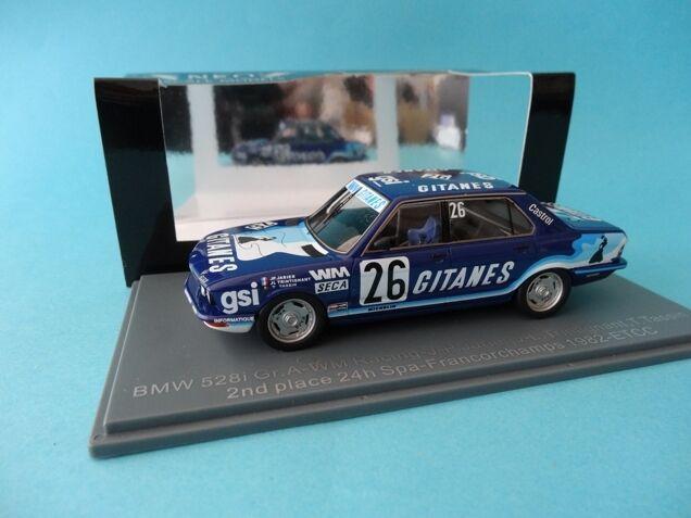 barato BMW 528 i GITANES - 2nd 2nd 2nd 24h SPA FRANCORCHAMPS 1982 ETCC - 1 43 NEW - NEO 45667  tienda de ventas outlet