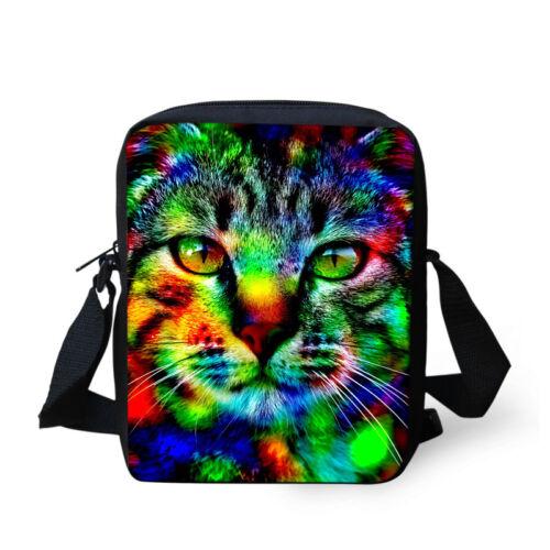 Womens Mens Cool Animal Messenger Bag Kids Sling Handbags Fashion Trend Purses