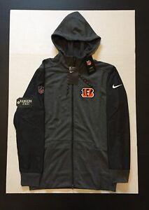 09c27936 Details about Nike NFL Cincinnati Bengals Travel Hybrid Full Zip Hoodie  Jacket Men's Size M
