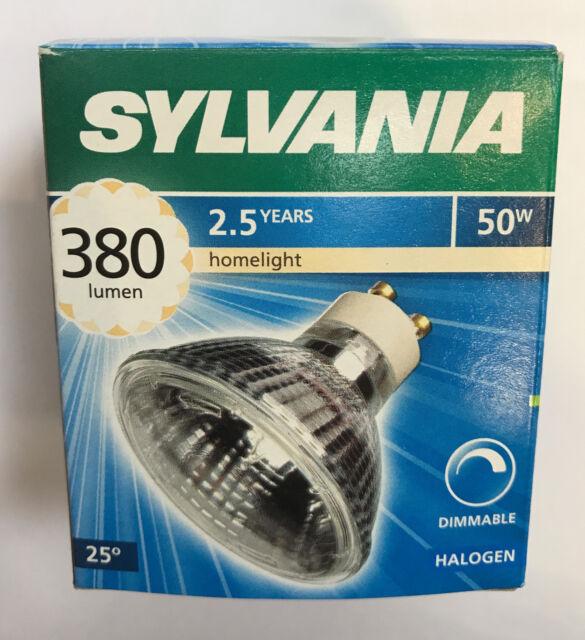 Halógena Cálido GU10 25°Blanco Lámpara 50W Regulable 230V Hi Spot ES63 Sylvania I9DH2E