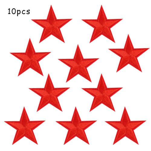 Badg 10pcs Applique Sew on patch 4.5 CM Sequin Stars Embroidered Iron on