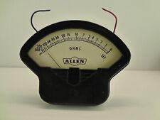 Vintage Allen Gauge Panel Analog Meter Ohms