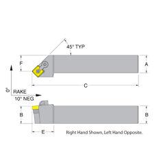 73310151198 RNMG Dorian Tool Turning Toolholder RH MRGNR12-4B