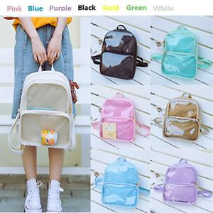 7-Colors-Women-Transparent-ita-bag-Personalise-Backpack-Waterproof-school-bags
