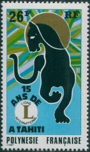 French-Polynesia-1975-Sc-285-SG198-26f-Tahiti-Lion-039-s-Club-MNH