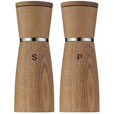 "WMF Ceramill Nature Salt and Pepper Grinder Mill Set of 2, Oak Wood 7"" Tall"