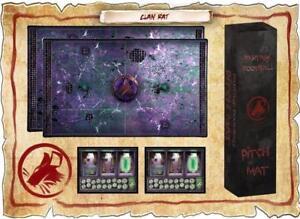 Tapis de football Fantasy Mat et Dugout Mat Clan Rat (compatible Blood Bowl)