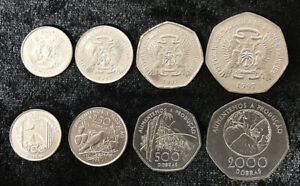 St-Thomas-amp-PRINCE-SET-4-monedas-de-100-250-500-2000-duplas-1997-Uncirculated
