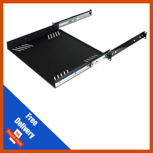 Penn Elcom 1U Sliding Rack Shelf with Universal Fixing Slots