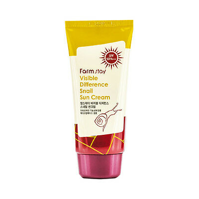 [FARM STAY] Visible Difference Snail Sun Cream - 70g (SPF50 PA+++)