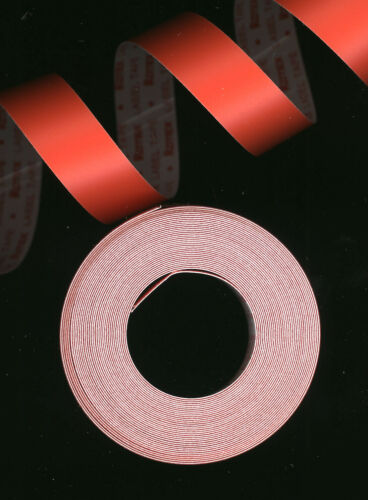1x ROTEX 12,7mm x 4,0M PRÄGEBAND ORANGE Matt mate Etiketten Embossing label tape