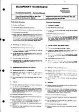 Blaupunkt Service Manual für Uppsala 7629210 / 211