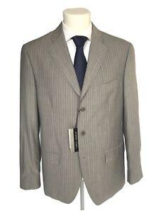 Giacca-uomo-classica-ROBERT-DONEL-taglia-54-grigio-chiaro-in-lana-coll-P-E