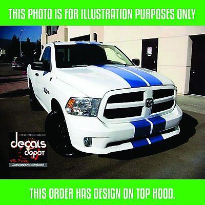 3X Dodge Ram 1500 2500 side bed hood Stripe Racing Decal vinyl graphics kit