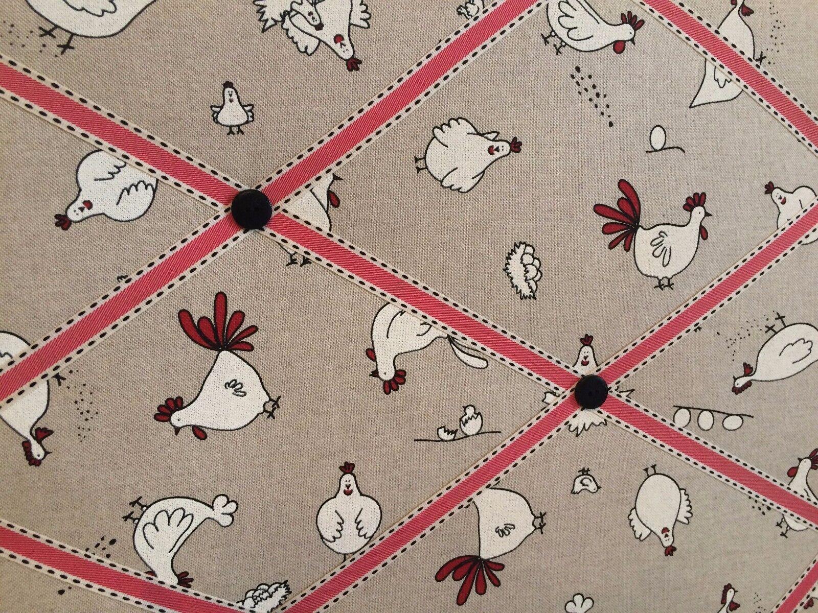 Sm lg xl xl xl tissu pin/mémo/avis/planche photo de ferme/poulet/mouton 4ac7db