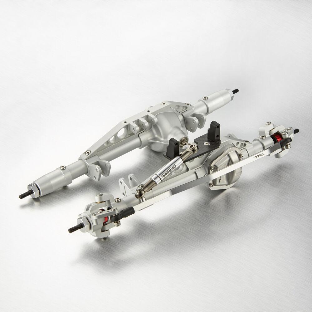 TFL CNC Aluminio Completo Frontal Y Eje Trasero Conjunto para Axial Wraith Plata C1402-26