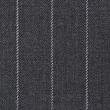 Holland and Sherry Medium Grey Chalk Stripe All Wool Suiting - 3.50 Mtrs