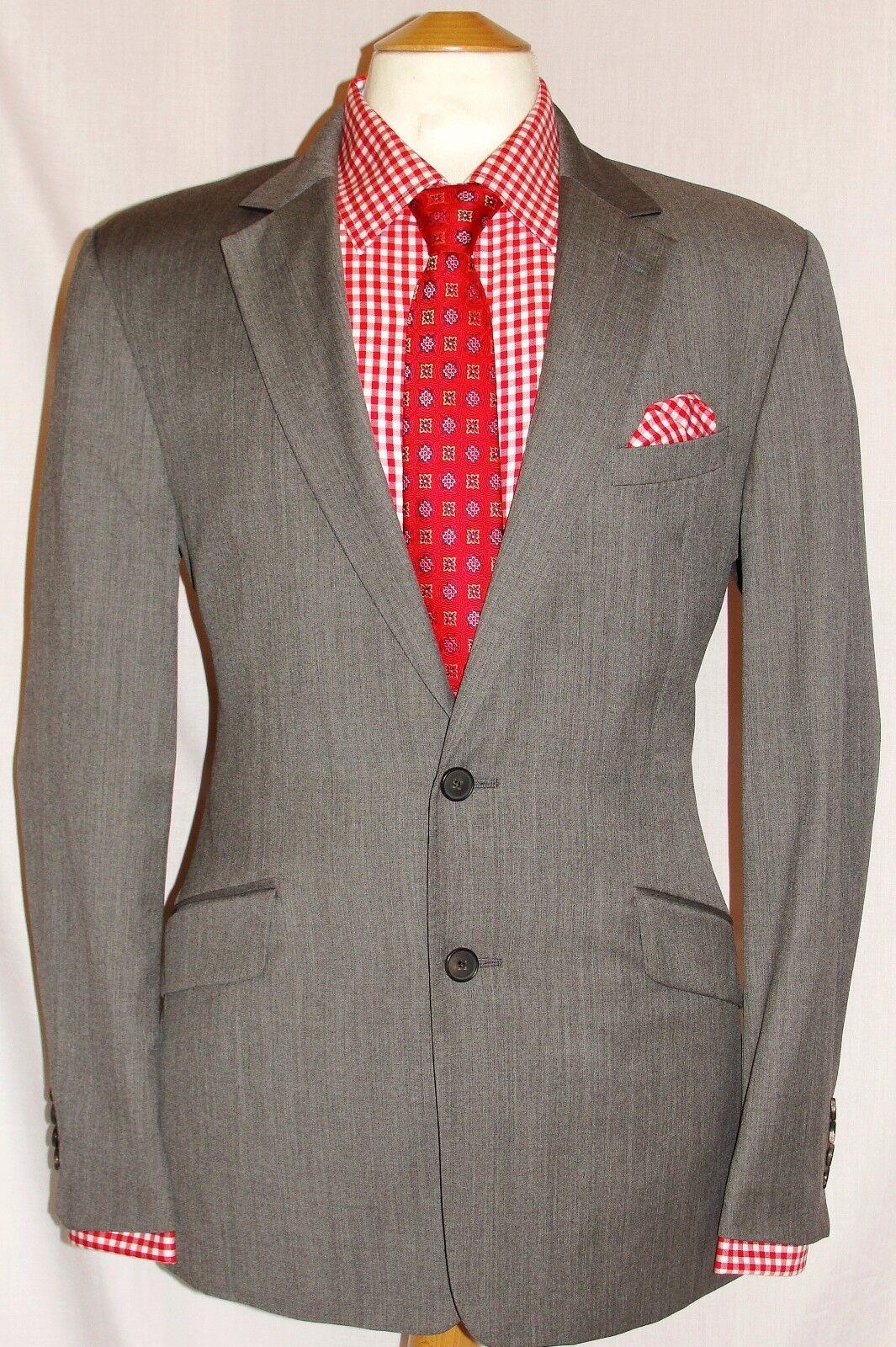 59d28d56a REISS LONDON GREY DESIGNER SUIT R XL30 MEN'S W36 nyktes6397-Suits ...