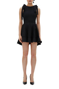 NEW-By-Johnny-Ilona-Tie-Strap-Frill-Dress-Black