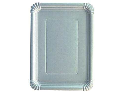 55140 125 Pappteller Imbißteller Kuchentabletts 21 x 29 cm weiß Teller Party