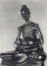 Powerful HOYNINGEN-HUENE Vintage 1930s Photogravure STARVING BUDDHA Framed COA