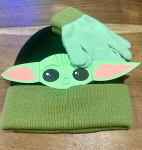 New-Baby-Yoda-The-Child-Kids-Beanie-and-Gloves-Set-Disney-The-Mandalorian