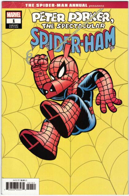 SPIDER-MAN ANNUAL #1 1:50 ARMSTRONG HIDDEN GEM VARIANT PETER PORKER MARVEL 2019