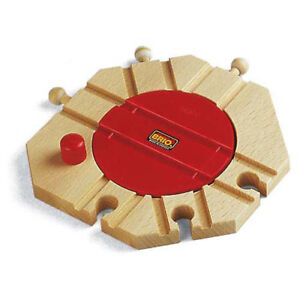 Image Is Loading Brio 33361 Turntable Track For Wooden Train Set