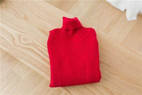 Turtleneck Baby Girl Pullover Kids Ribbed Sweater Knitted Boy Girls Sweaters