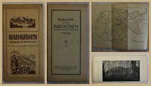 Orig-Werbeprospekt-Bad-Koesen-1912-Thueringen-Ortskunde-Landeskunde-Kurort-xy
