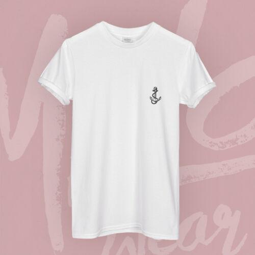 Anchor Outline Black Design Tattoo Hipster Cute Petit Pocket Print Sailor Soft