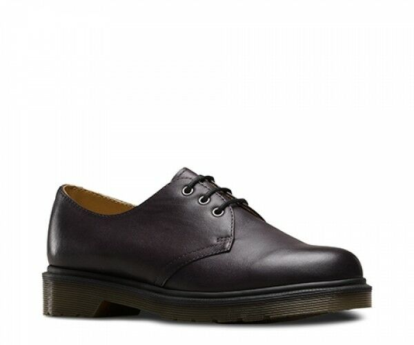 NEW Mens Dr Martens 1461 3 Eye Black Charcoal Charcoal Charcoal Temperley Leather Oxford shoes cfb72c