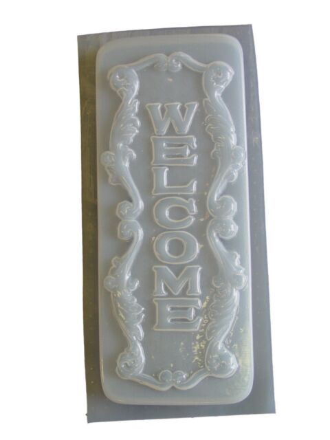 Welcome Bear Plaque Stepping Stone Cement Concrete Mold 1285 Moldcreations