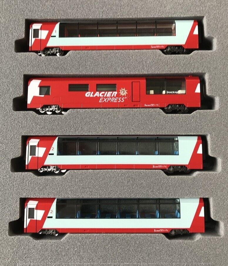 Noch 7074031 7074031 7074031 (Kato 10-1146) Spur N Glacier Express Ergänzungsset, 4-teilig b4a6e0